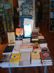 Front table at WORD, 14 October 2009.